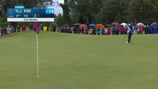 H.J. Kim extends early Evian lead with birdie putt from downtown