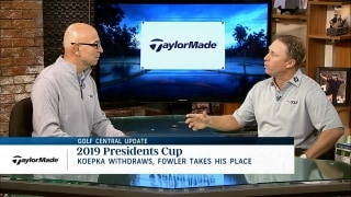Reaction to Koepka's Presidents Cup WD, Fowler selection