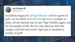 Grill Room: Social media reacts to Tiger's history-making win