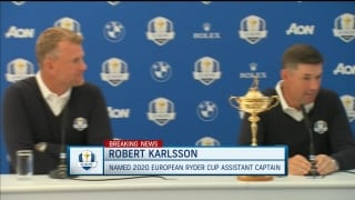 Harrington names Karlsson first Ryder Cup assistant captain
