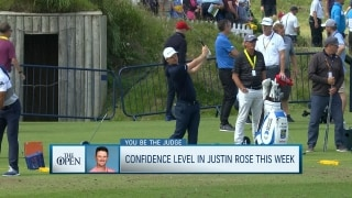 You be the judge: Confidence in Justin Rose