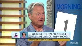 Confidence level in Phil winning U.S. Open? Very, very low