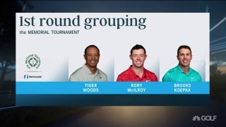 Tiger paired with Brooks, Rory at Memorial