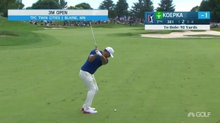 Koepka grinds behind leaders at 3M Open