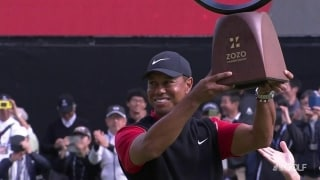 Tiger (67) edges out Hideki to win Zozo Championship