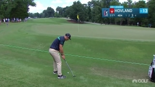 Highlights: Hovland (64) hovering behind leaders at Wyndham