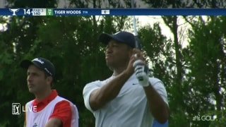 Tiger trails big after disappointing first-round 75 at Northern Trust