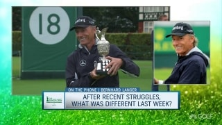 Langer ranks his win at Senior Open on his list of career achievements