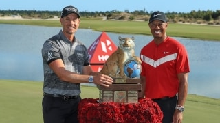 Woods can't match Stenson's shots at Hero World Challenge