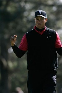 Tiger Woods reacts after making a birdie putt on the first hole during the final round of the Buick Invitational at the Torrey Pines Golf Course on January 27, 2008 in La Jolla, California. PGA TOUR - 2008 Buick Invitational - Final RoundPhoto by Jeff Gross/Getty Images