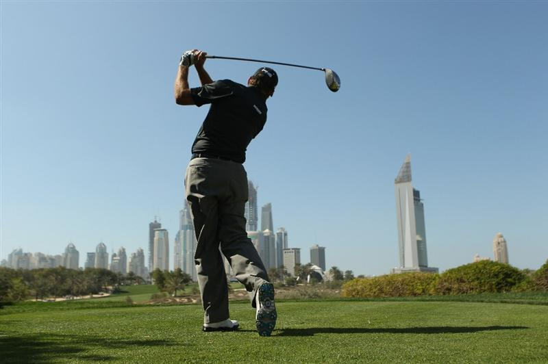 DUBAI, UNITED ARAB EMIRATES - FEBRUARY 12:  Lee Westwood of England in action during the third round for the 2011 Omega Dubai desert Classic held on the Majilis Course at the Emirates Golf Club on February 12, 2011 in Dubai, United Arab Emirates.  (Photo by Ian Walton/Getty Images)