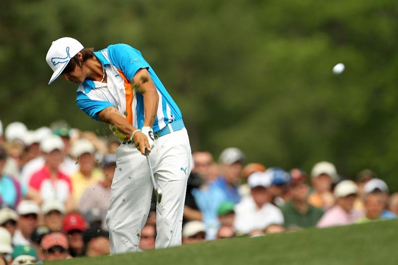 AUGUSTA, GA - APRIL 08:  Rickie Fowler hits his tee shot on the 12th hole during the second round of the 2011 Masters Tournament at Augusta National Golf Club on April 8, 2011 in Augusta, Georgia.  (Photo by Jamie Squire/Getty Images)