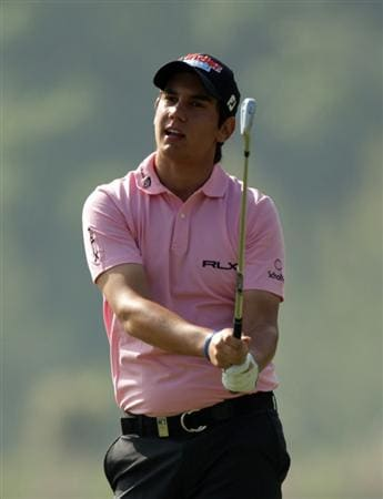 BARCELONA, SPAIN - MAY 05:  Matteo Manassero of Italy during the first round of the Open de Espana at the the Real Club de Golf El Prat on May 5 , 2011 in Barcelona, Spain.  (Photo by Ross Kinnaird/Getty Images)
