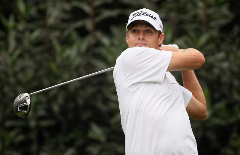 SHANGHAI, CHINA - NOVEMBER 07:  Nick Watney of the USA hits his tee-shot on the fifth hole during the third round of the WGC-HSBC Champions at Sheshan International Golf Club on November 7, 2009 in Shanghai, China.  (Photo by Andrew Redington/Getty Images)