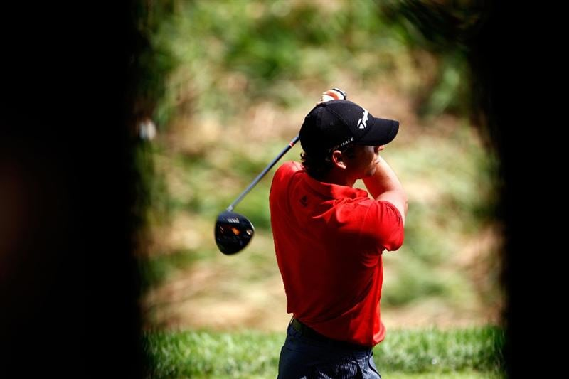 ST. LOUIS - SEPTEMBER 06:  Sergio Garcia of Spain hits his tee shot on the 8th hole during the second round of the BMW Championship on September 6, 2008 at Bellerive Country Club in St. Louis, Missouri.  (Photo by Jamie Squire/Getty Images)