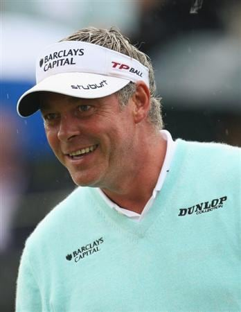 PERTH, UNITED KINGDOM - AUGUST 31:  Darren Clarke of Northern Ireland after the final round of The Johnnie Walker Championship at Gleneagles on August 31, 2008 at the Gleneagles Hotel and Resort in Perthshire, Scotland.  (Photo by Ross Kinnaird/Getty Images)