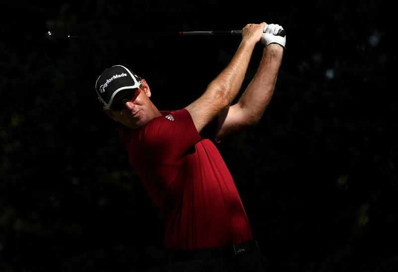 BOISE , ID - SEPTEMBER 14:  Greg Owen tees off on the 2nd hole during the final round of the Albertson's Boise Open at the Hillcrest Country Club on September 14, 2008 in Boise, Idaho.  (Photo by Jonathan Ferrey/Getty Images)