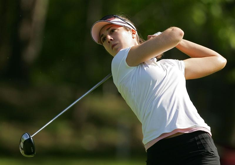 CORNING, NY - MAY 22:  Sandra Gal of Germany hits a drive during the second round of the LPGA Corning Classic at the Corning Country Club held on May 22, 2009 in Corning, New York.  (Photo by Michael Cohen/Getty Images)