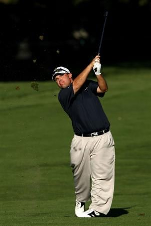 BOISE , ID - SEPTEMBER 11:  Jon Turncott hits his second shot on the 15th hole during the first round of the Albertson's Boise Open at the Hillcrest Country Club on September 11, 2008 in Boise, Idaho.  (Photo by Jonathan Ferrey/Getty Images)