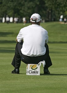 Ryan Palmer waits on the tee during the second round of the Cialis Western Open on the No. 4 Dubsdread course at Cog Hill Golf and Country Club in Lemont, Illinois on July 7, 2006.Photo by Michael Cohen/WireImage.com