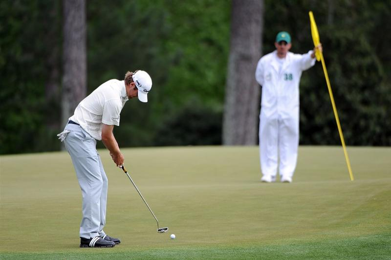 AUGUSTA, GA - APRIL 11:  Sean O'Hair putts on the 17th hole during the third round of the 2009 Masters Tournament at Augusta National Golf Club on April 11, 2009 in Augusta, Georgia.  (Photo by Harry How/Getty Images)