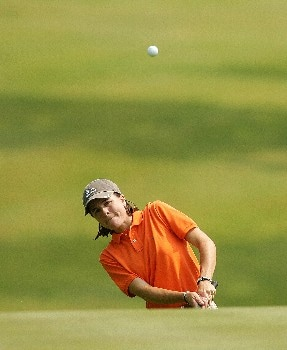 CORNING, NY - MAY 25:  Jamie Hullett chips onto the 14th green during the second round of the Corning Classic at the Corning Country Club on May 25, 2007 in Corning, New York.  (Photo by Kyle Auclair/Getty Images)