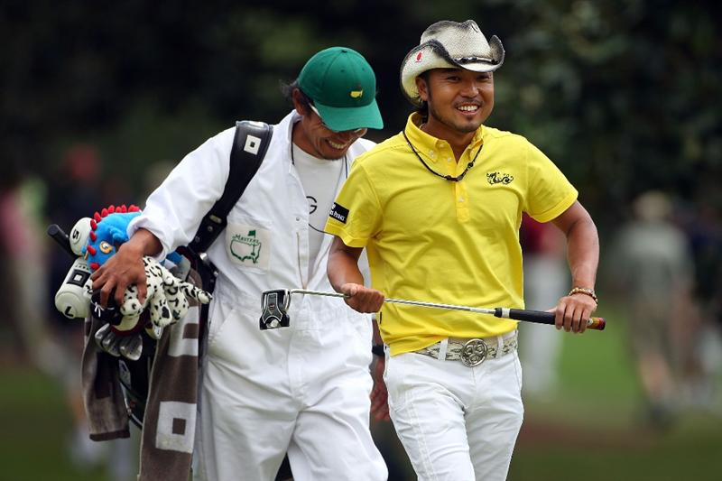 AUGUSTA, GA - APRIL 11:  Shingo Katayama of Japan walks to the first green during the third round of the 2009 Masters Tournament at Augusta National Golf Club on April 11, 2009 in Augusta, Georgia.  (Photo by Andrew Redington/Getty Images)