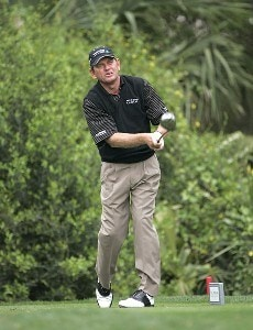 Nick Price hitting off the 11th tee during the first round for THE PLAYERS Championship held at the TPC Stadium Course in Ponte Vedra Beach, Florida on March 23, 2006.Photo by Chris Condon/PGA TOUR/WireImage.com