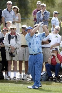 Duffy Waldorf tees off the 2nd hole during the final round of the 2006 Chrysler Classic of Tucson on Sunday , February 26, 2006 at the Omni Tucson National Golf Resort and Spa in Tucson, ArizonaPhoto by Marc Feldman/WireImage.com