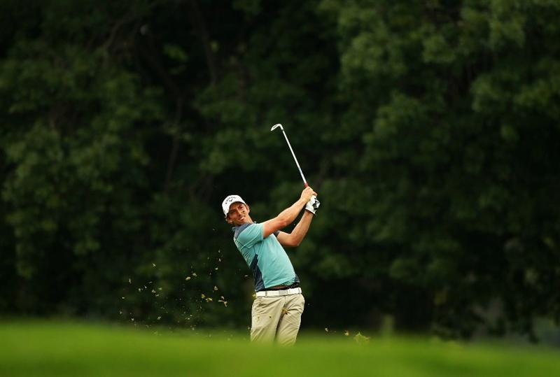 JOHANNESBURG, SOUTH AFRICA - JANUARY 15:  Jamie Elson of England plays his second shot into the 17th green during the third round of the Joburg Open at Royal Johannesburg and Kensington Golf Club on January 15, 2011 in Johannesburg, South Africa.  (Photo by Warren Little/Getty Images)