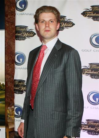 NEW YORK - MARCH 31:  Eric Trump poses for a photo prior to a special screening of Golf Channel's new celebrity reality series, Donald J Trump's Fabulous World of Golf on March 31, 2010 at Trump Towers in New York, New York.  (Photo by Mike Stobe/Getty Images for Golf Channel)