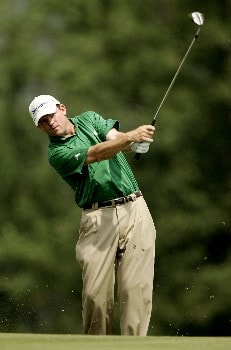 OAKMONT, PA - JUNE 13:  Shaun Micheel plays a shot during the final practice round prior to the start of 107th U.S. Open Championship at Oakmont Country Club on June 13, 2007 in Oakmont, Pennsylvania.  (Photo by Sam Greenwood/Getty Images)