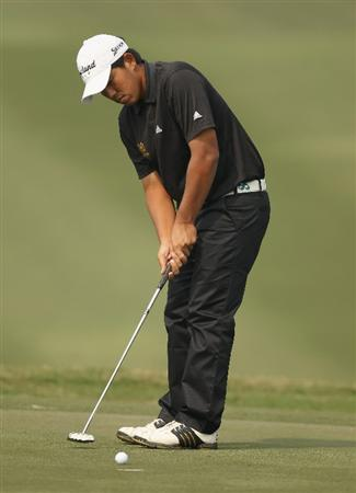 NEW DELHI, INDIA - FEBRUARY 13:  Kwanchai Tannin of Hong Kong in action during Round Three of the Avantha Masters held at The DLF Golf and Country Club on February 13, 2010 in New Delhi, India.  (Photo by Ian Walton/Getty Images)