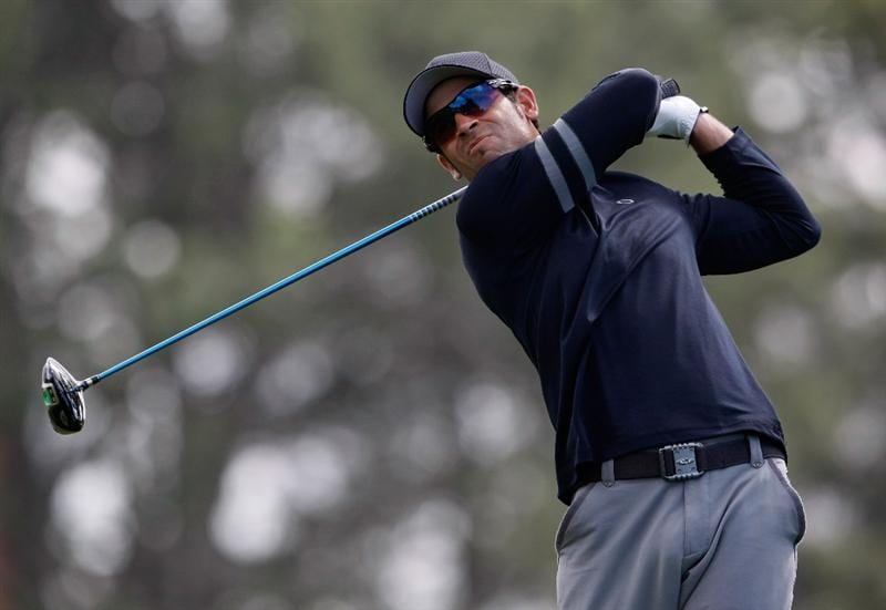 LA JOLLA, CA - FEBRUARY 05:  James Nitties of Australia hits a tee shot on the 15th hole during the first round of the Buick Invitational at the Torrey Pines South Course on February 5, 2009 in La Jolla, California.  (Photo by Jeff Gross/Getty Images)