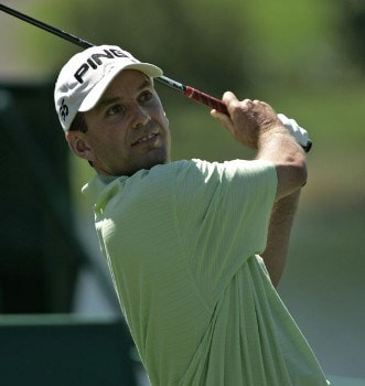 Kevin Sutherland in action during the first round of the Buick Championship at the TPC at River Highlands in Cromwell, Connecticut on August 25, 2005.Photo by Michael Cohen/WireImage.com