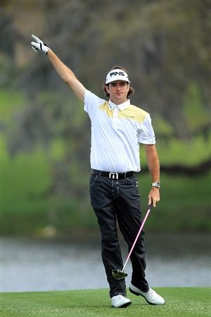 ORLANDO, FL - MARCH 24:  Bubba Watson of the USA drives from the 16th tee during the first round of the 2011 Arnold Palmer Invitational presented by Mastercard at the Bay Hill Lodge and Country Club on March 24, 2011 in Orlando, Florida.  (Photo by David Cannon/Getty Images)
