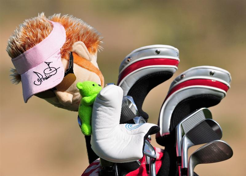 MARANA, AZ - FEBRUARY 24:  An Ian Poulter head cover sits on the club of Ryo Ishikawa of Japan during practice prior to the start of Accenture Match Play Championships at The Ritz-Carlton Golf Club at Dove Mountain February 24, 2009 in Marana, Arizona.  (Photo by Stuart Franklin/Getty Images)