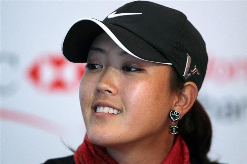 SINGAPORE - FEBRUARY 23:  Michelle Wie of the USA attends a photocall at the Raffles Hotel prior to the HSBC Women's Champions at Tanah Merah Country Club on February 23, 2010 in Singapore, Singapore.  (Photo by Andy Lyons/Getty Images)