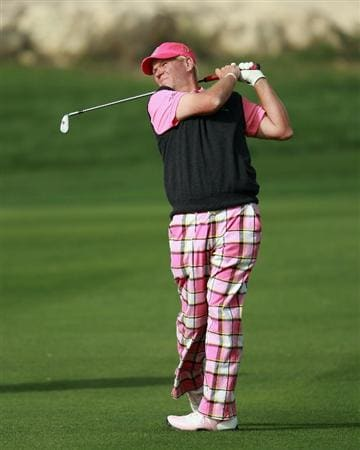 DOHA, QATAR - FEBRUARY 03:  John Daly of the USA in action during the first round of the Commercialbank Qatar Masters held at Doha Golf Club on February 3, 2011 in Doha, Qatar.  (Photo by Andrew Redington/Getty Images)