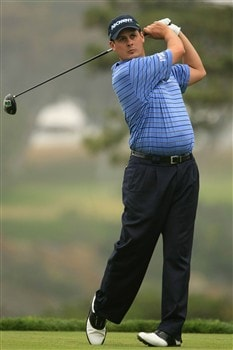 SAN DIEGO - JUNE 10:  Jeff Quinney hits a tee shot during the second day of previews to the 108th U.S. Open at the Torrey Pines Golf Course (South Course) on June 10, 2008 in San Diego, California.  (Photo by Scott Halleran/Getty Images)
