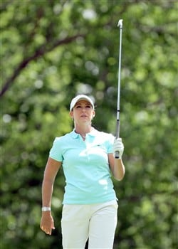EDINA, MN - JUNE 29:  Cristie Kerr tees off at the fourth hole during the final round of the 2008 U.S. Women's Open Championship held at the Interlachen Country Club June 29, 2008 in Edina, Minnesota.  (Photo by David Cannon/Getty Images)