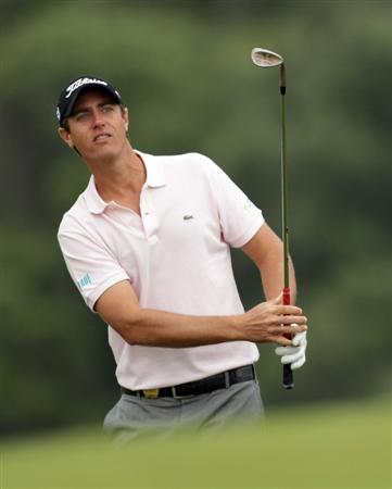 CASARES, SPAIN - MAY 20:  Nicolas Colsaerts of Belgium during the group stages of the Volvo World Match Play Championship at Finca Cortesin on May 20, 2011 in Casares, Spain.  (Photo by Ross Kinnaird/Getty Images)