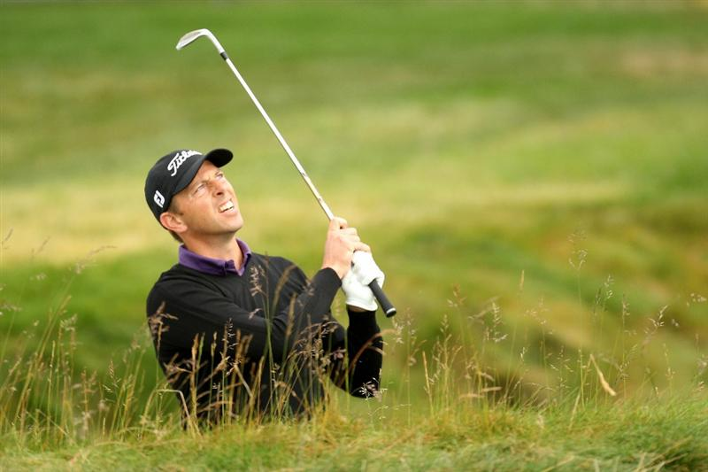 PEBBLE BEACH, CA - JUNE 17:  Soren Hansen of Denmark watches a shot on the second hole during the first round of the 110th U.S. Open at Pebble Beach Golf Links on June 17, 2010 in Pebble Beach, California.  (Photo by Ross Kinnaird/Getty Images)