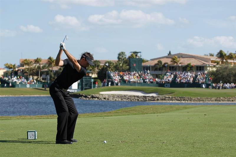 DORAL, FL - MARCH 14:  Charl Schwartzel of South Africa tees off on the ninth tee box during the final round of the 2010 WGC-CA Championship at the TPC Blue Monster at Doral on March 14, 2010 in Doral, Florida.  (Photo by Scott Halleran/Getty Images)