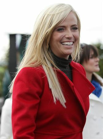 NEWPORT, WALES - SEPTEMBER 30:  Amy Mickelson smiles during the Opening Ceremony prior to the 2010 Ryder Cup at the Celtic Manor Resort on September 30, 2010 in Newport, Wales. (Photo by Andrew Redington/Getty Images)