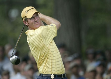 Greg Owen during the third round of the 2005 PGA Championship at Baltusrol Golf Club in Springfield, New Jersey on August 13, 2005.Photo by Sam Greenwood/WireImage.com