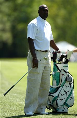 CHARLOTTE, NC - APRIL 28:  Basketball legend Michael Jordan looks on during the pro-am for the Quail Hollow Championship at Quail Hollow Country Club on April 28, 2010 in Charlotte, North Carolina.  (Photo by Richard Heathcote/Getty Images)