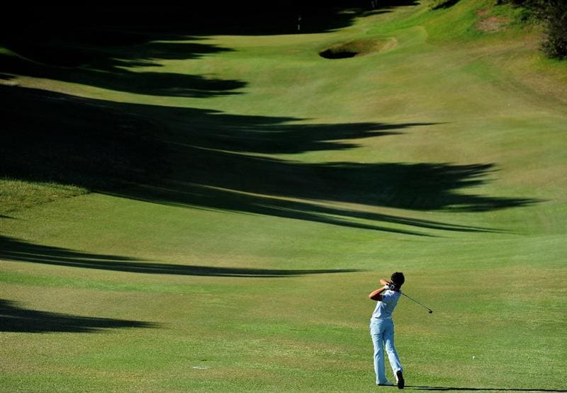 EAST LONDON, SOUTH AFRICA - JANUARY 07:  Danny Lee of New Zealand plays his approach shot during the first round of the Africa Open at the East London Golf Club on January 7, 2010 in East London, South Africa.  (Photo by Stuart Franklin/Getty Images)