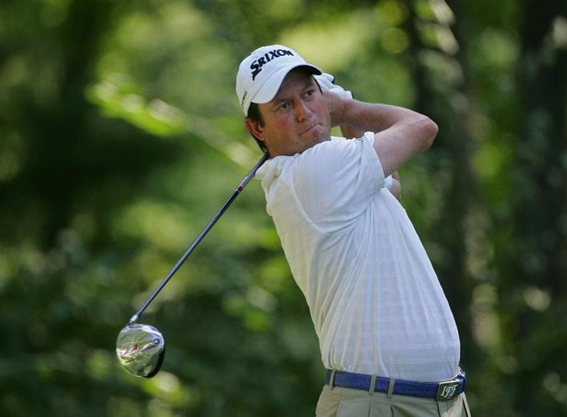 NORTON, MA - SEPTEMBER 01:  Tim Clark of South Africa hits a drive on the ninth hole during the final  round of the Deutsche Bank Championship at TPC of Boston held on September 1, 2008 in Norton, Massachusetts.  (Photo by Michael Cohen/Getty Images)
