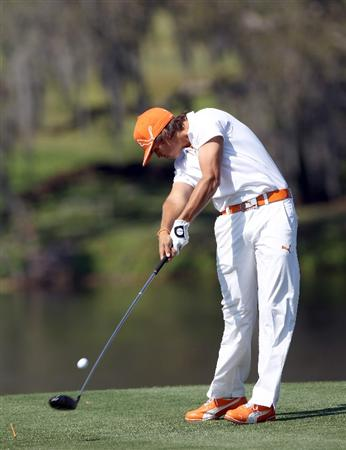 ORLANDO, FL - MARCH 25:  Rickie Fowler hits a shot on the 16th hole during the second round of the Bay Hill Invitational presented by MasterCard at the Bay Hill Club and Lodge on March 25, 2011 in Orlando, Florida.  (Photo by Sam Greenwood/Getty Images)
